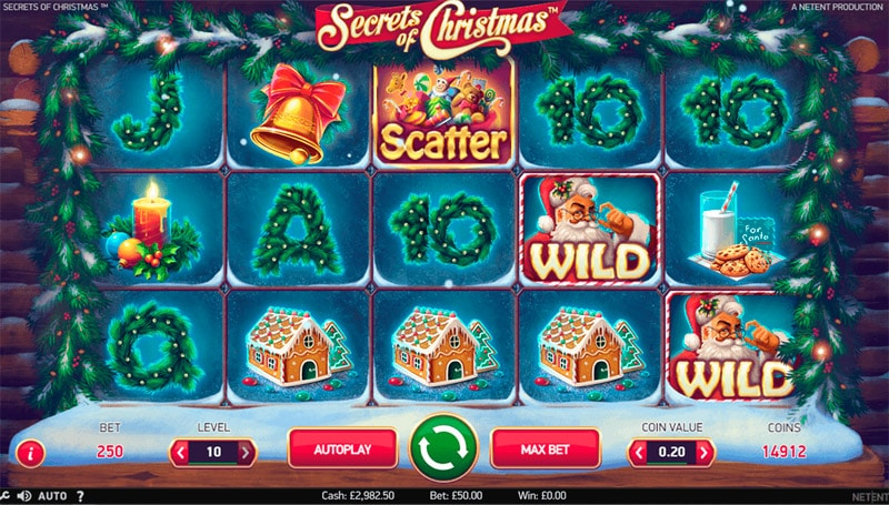 Christmas Charm интерфейс игры Покердом